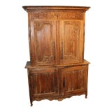 Image of 19th Century Louis XV Pine Armoire For Sale