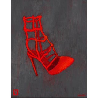 Red Loubouton Giclee Print For Sale