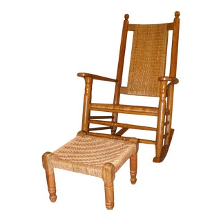 1980s Vintage Presidential Rocking Chair For Sale