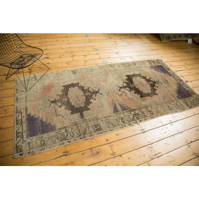 "Vintage Distressed Oushak Rug Runner - 3'7"" x 8' - Image 2 of 10"