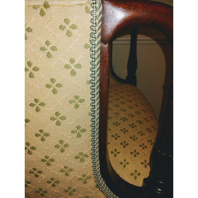 Wood Council Furniture Pull Up Chairs Upholstered in Scalamandre - A Pair For Sale - Image 7 of 8
