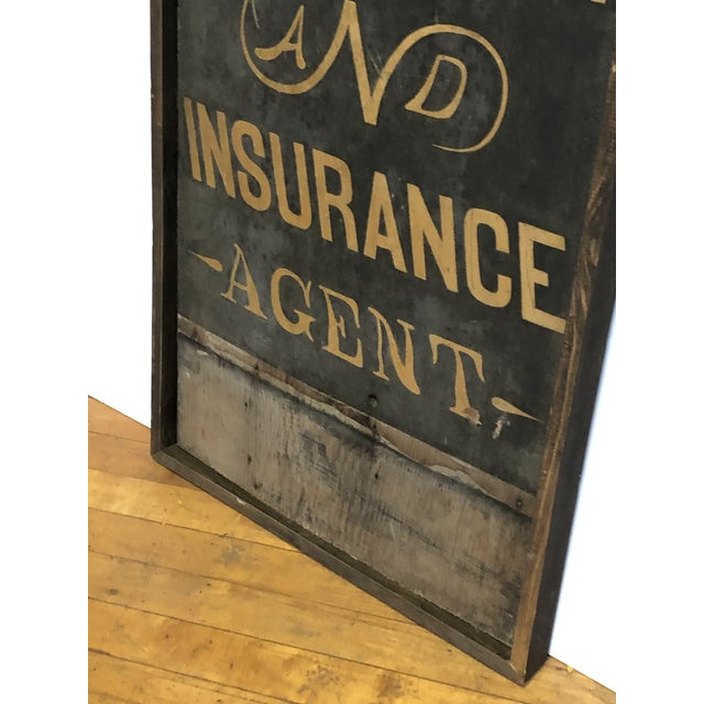 American 1900's Hand Painted Real Estate Sign For Sale - Image 3 of 5