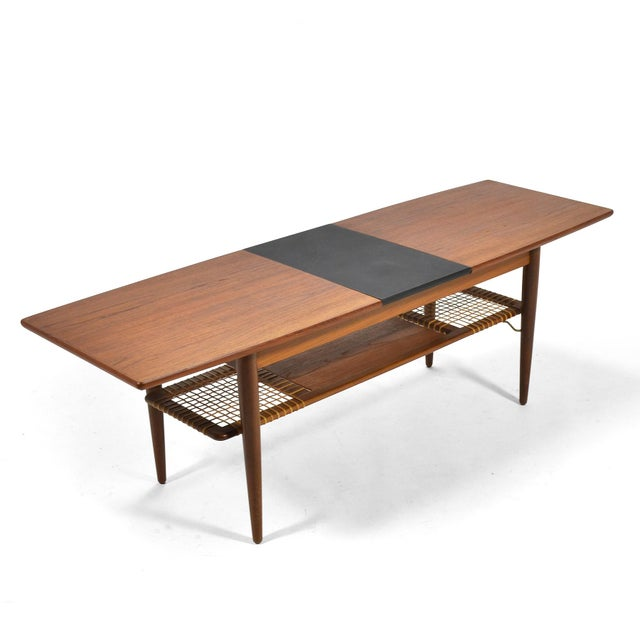 Wood Danish Teak Extension Coffee Table For Sale - Image 7 of 13