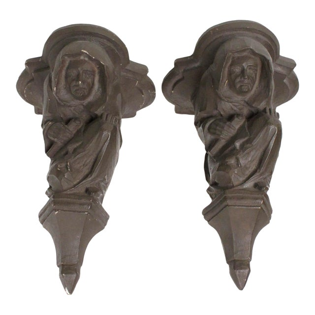 Medieval Corbel Monks - A Pair For Sale