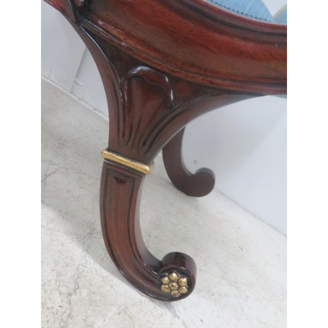 Mahogany Regency Style Window Bench For Sale - Image 5 of 9