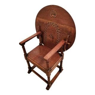Antique Metamorphic Table Chair English Oak Tilt-Top Monks Bench For Sale