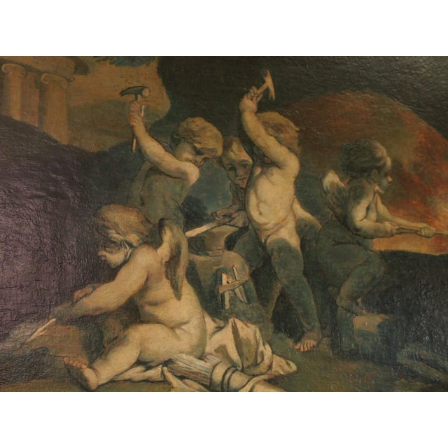 19th Century Italian Painting of Putti For Sale - Image 4 of 9