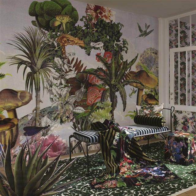 English Christian Lacroix Jardin Des Reves Panoramic Prisme Wallpaper Sample For Sale - Image 3 of 6