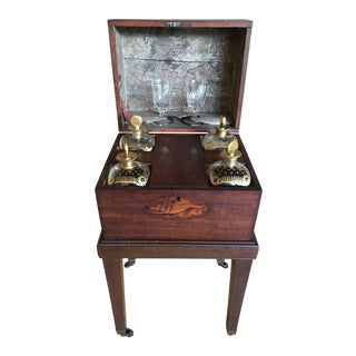 George III Mahogany and Satinwood Tantalus, 1790
