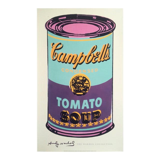 """Andy Warhol Foundation Lithograph Print Pop Art Poster """" Campbell's Soup Can """" 1965 For Sale"""