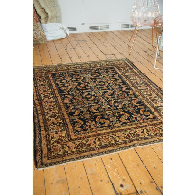 "Vintage Malayer Square Rug - 5' x 6'2"" - Image 9 of 9"