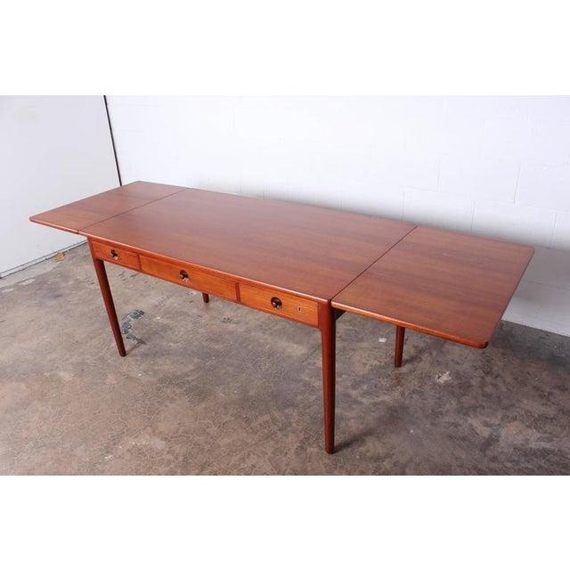 Hans Wegner Hans Wegner Drop-Leaf Table Desk AT305 For Sale - Image 4 of 10