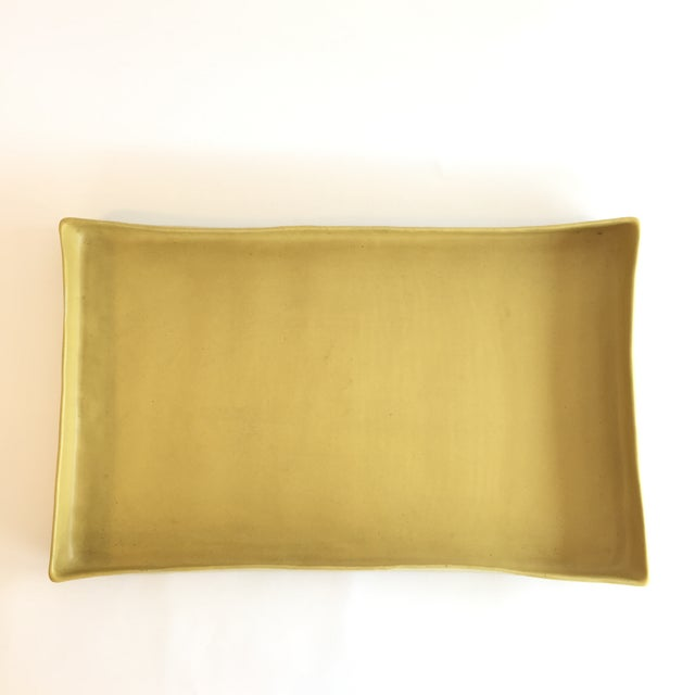 Contemporary Christiane Perrochon Yellow Ceramic Tray For Sale - Image 3 of 5
