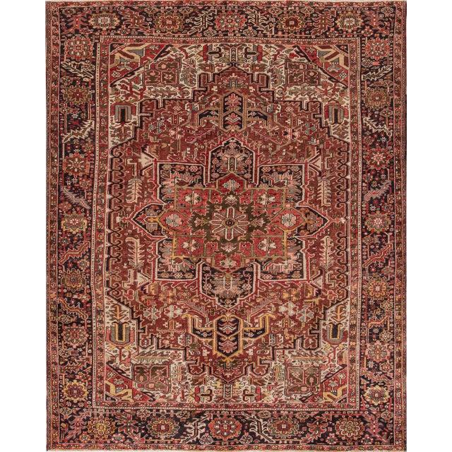 "Apadana - Vintage Persian Heriz Rug, 9'2"" x 11'6"" For Sale"