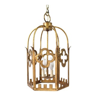 Gothic Gold Pendant Light For Sale