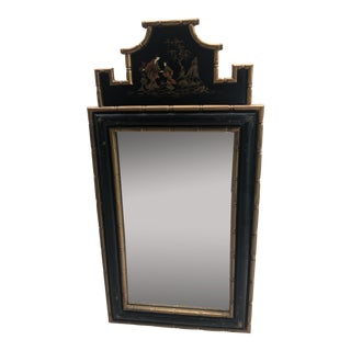 Chinoiserie Pagoda Mirror With Faux Bamboo Detail For Sale