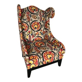 Colorful Wingback Chair