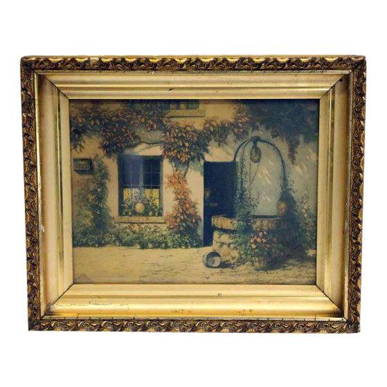 Framed Pastoral Home Print For Sale