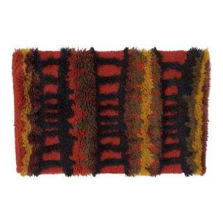 Mid-Century Modern Danish Scandinavian Rya Rug Tapestry - 3′7″ × 3″ For Sale