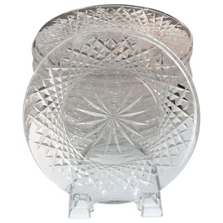 Set of 12 Signed Waterford Cut Crystal Plates For Sale