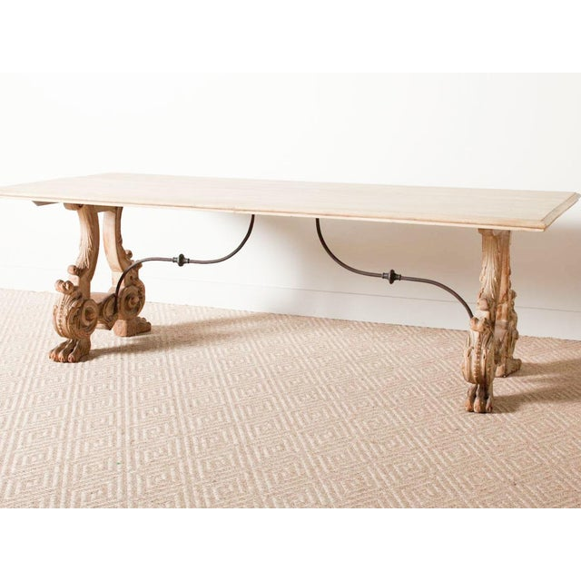 Mid 19th Century Antique Trestle Table For Sale - Image 5 of 8