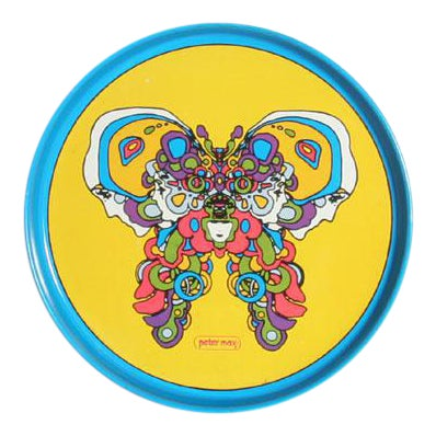 Peter Max Butterfly Tray For Sale