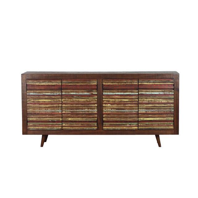 4 Door Reclaimed Wood Sideboard For Sale - Image 4 of 4
