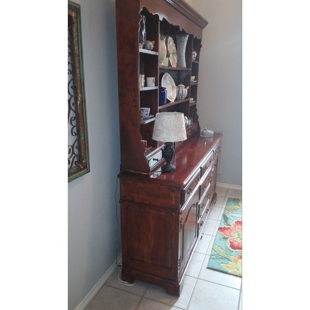 Theodore Alexander Solid Walnut Open China Cabinet - Image 7 of 7