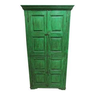 Antique Primitive Wardrobe Cupboard For Sale