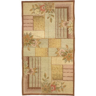 1930s French Art Deco Floral Rug- 7′10″ × 14′2″ For Sale