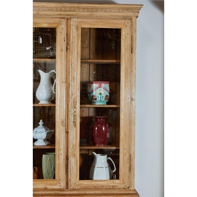 French Country Large French Pine Cabinet/Bookcase For Sale - Image 3 of 8