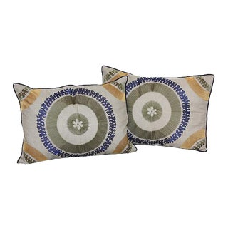 Halakon Embroidered Pillows - a Pair