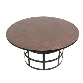 Round Mosaic Tile Dining Table For Sale