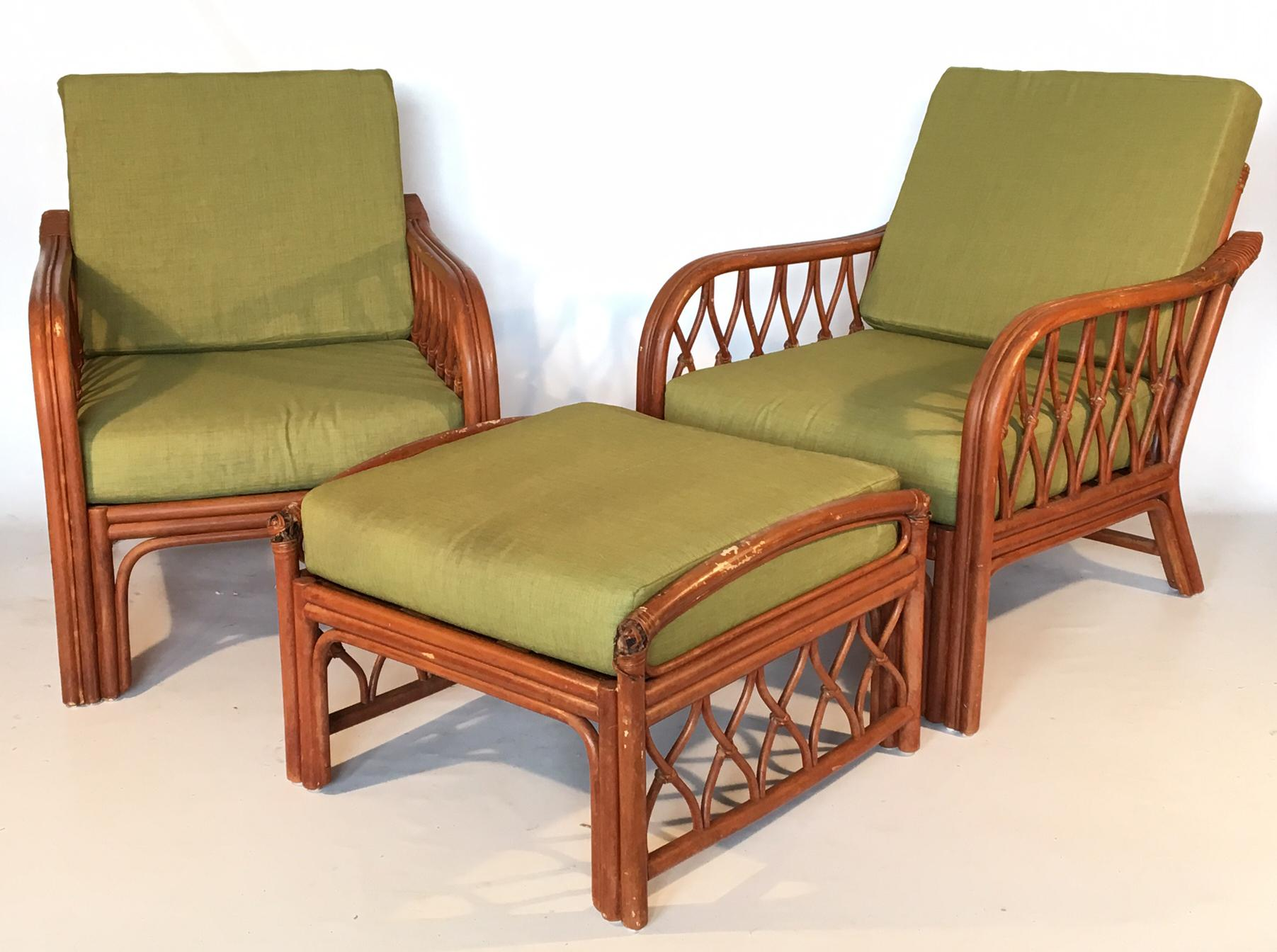 Bon Vintage Bamboo Lounge Chairs   A Pair   Image 3 Of 8