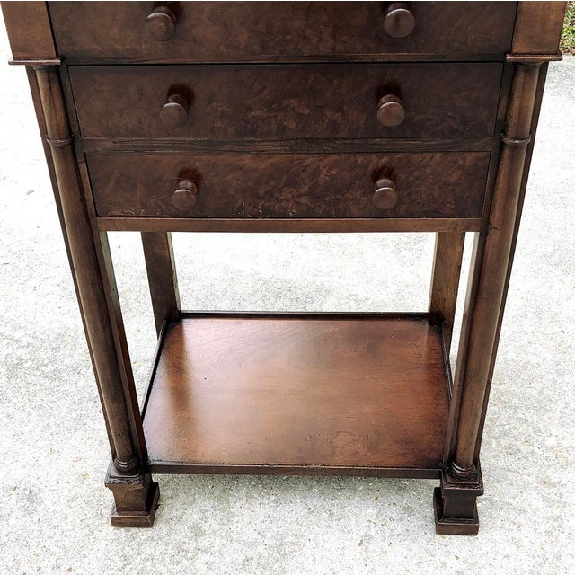 Wood 19th Century French Charles X Nightstand For Sale - Image 7 of 12