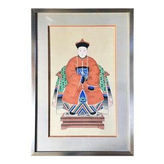Antique Chinese Ancestor Portrait For Sale