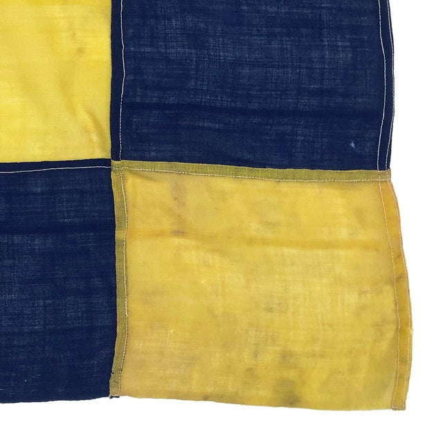 1940s 1940s Nautical Wool Signal Flag For Sale - Image 5 of 6