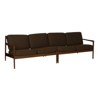 Mid Century Modern Folke Ohlsson for Dux Sectional Loveseat Sofas - Set of 2 For Sale