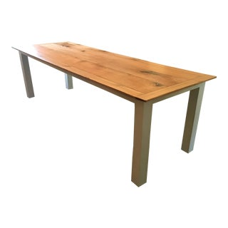 Hand-Crafted Red Oak Farm Table