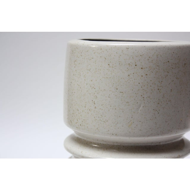 White Mid Century Israeli Modern Large Stoneware Vase by Esther for Lapid For Sale - Image 8 of 11