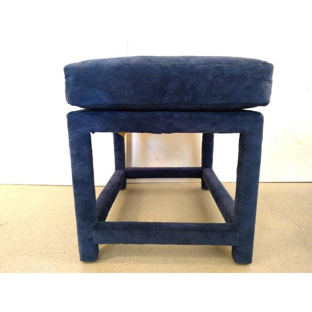 Mid-Century Modern 1930s Mid-Century Modern Milo Baughman for Thayer Coggin Fabric Stool For Sale - Image 3 of 11