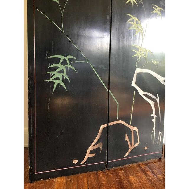 Vintage Japanese Silver Leafed Room Divider For Sale - Image 10 of 12