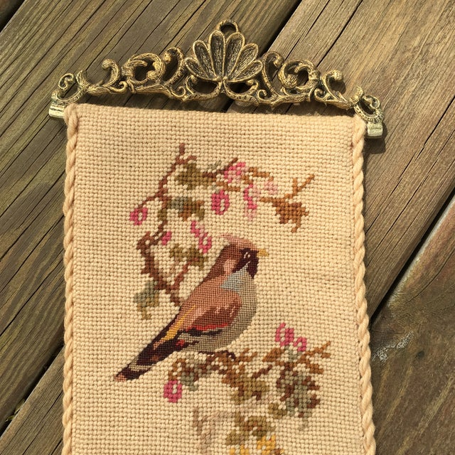 Vintage Embroidered Bird Wall Hanging - Image 3 of 10