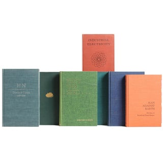 Midcentury MIX Book Wall : Set of Fifty Decorative Books Preview