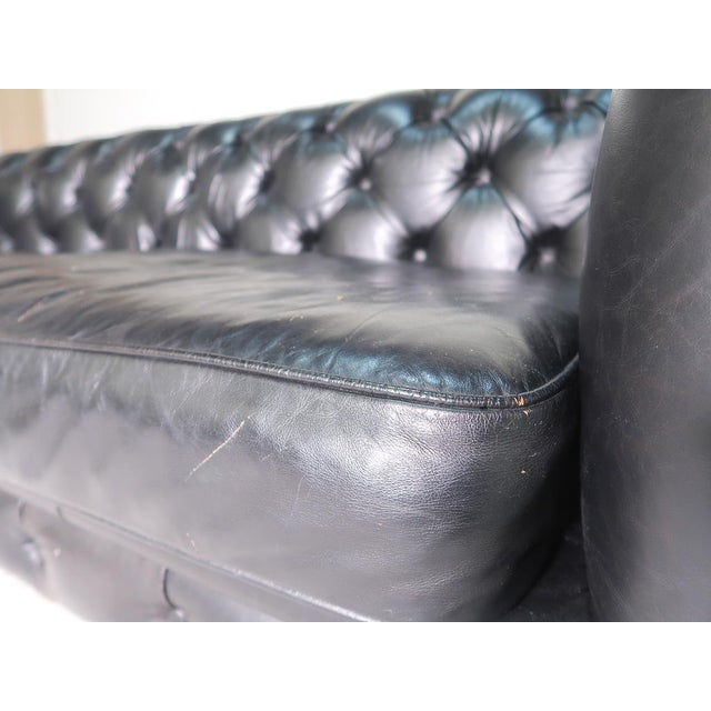 Restoration Hardware Kensington Leather Sofa For Sale - Image 5 of 8