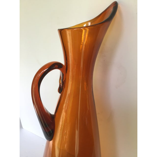 Winslow Anderson Mid-Century Blenko Orange Pitcher Winslow Anderson For Sale - Image 4 of 9
