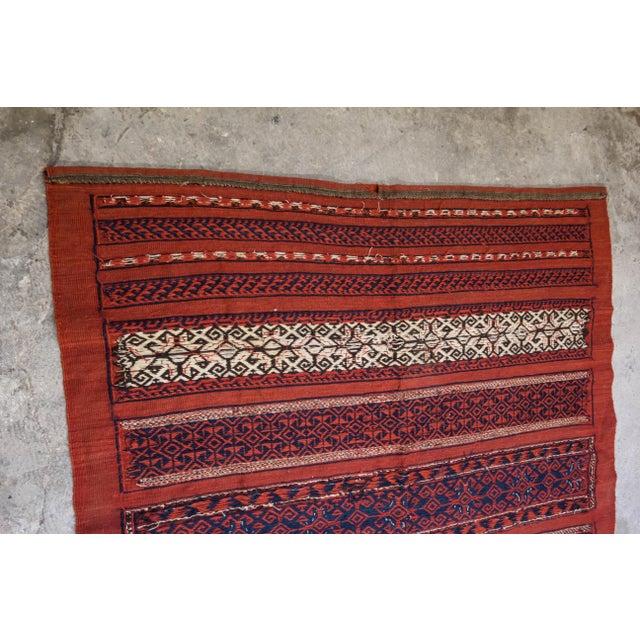"Vintage Turkish Aztec Print Rug - 5'1"" x 5'3"" - Image 7 of 8"