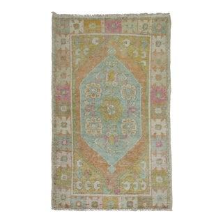Vintage Turkish Anatolian Rug, 2'8'' X 4' For Sale