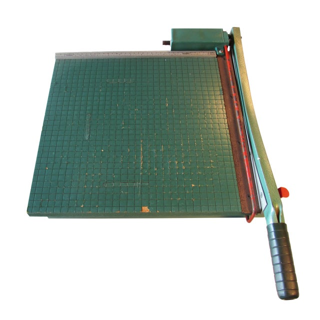 Vintage Guillotine Paper Cutter For Sale