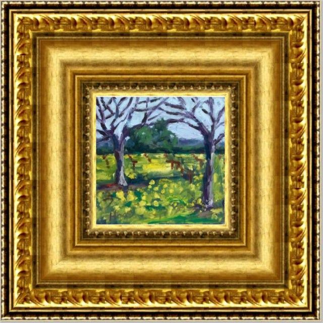 Suisun Valley Mustard Grass Original Landscape Oil Painting For Sale - Image 10 of 12